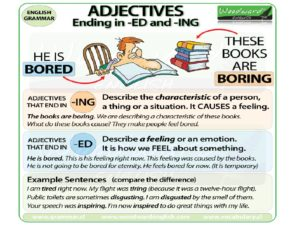 Ed and ing adjectives правило