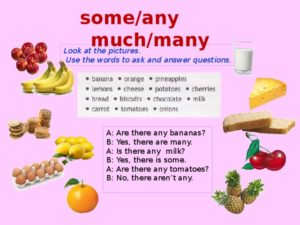 Правила much many some any